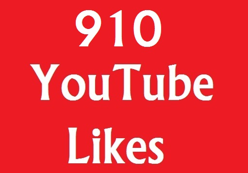 Instant 910+ YouTube Likse on your videos very fast adding