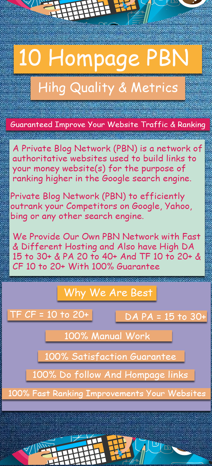 10 Homepage & Contextual PBN Post With have High Metrics