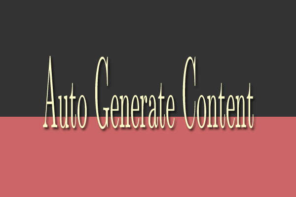 Create auto generate content AGC website