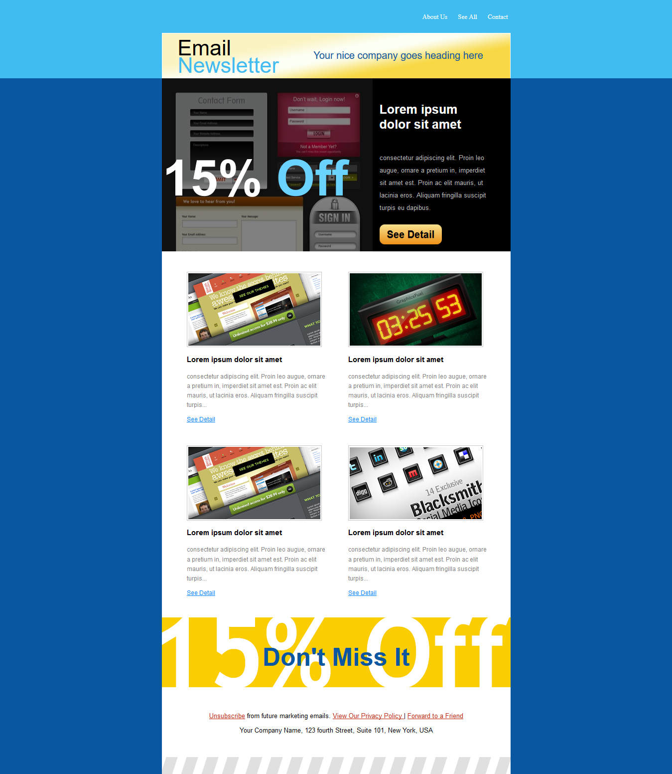 Get Responsive Editable HTML Email Template