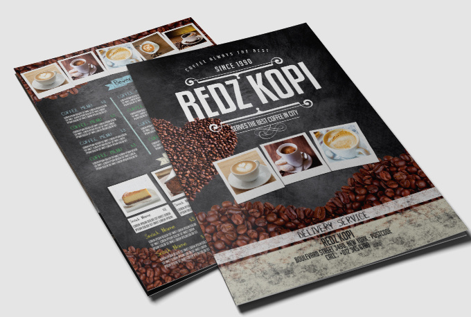 Make AMAZING flyer menu for your food business