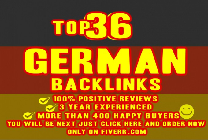 I will provide 36 German quality backlinks,  from german high PR social bookmarking site