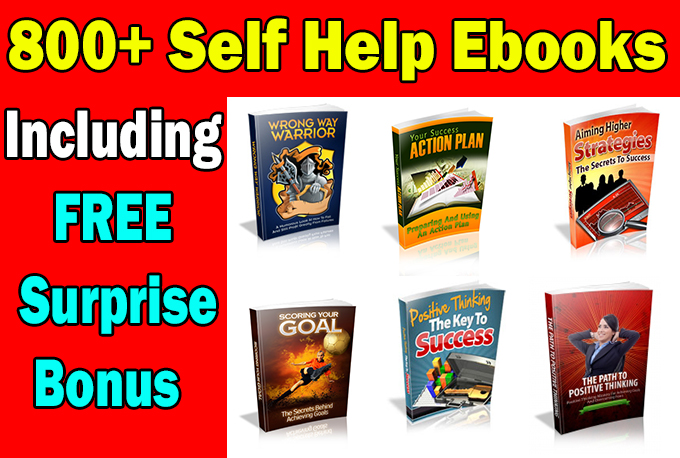 Over 800 Self Help and Personal Improvement PLR and MRR Ebooks