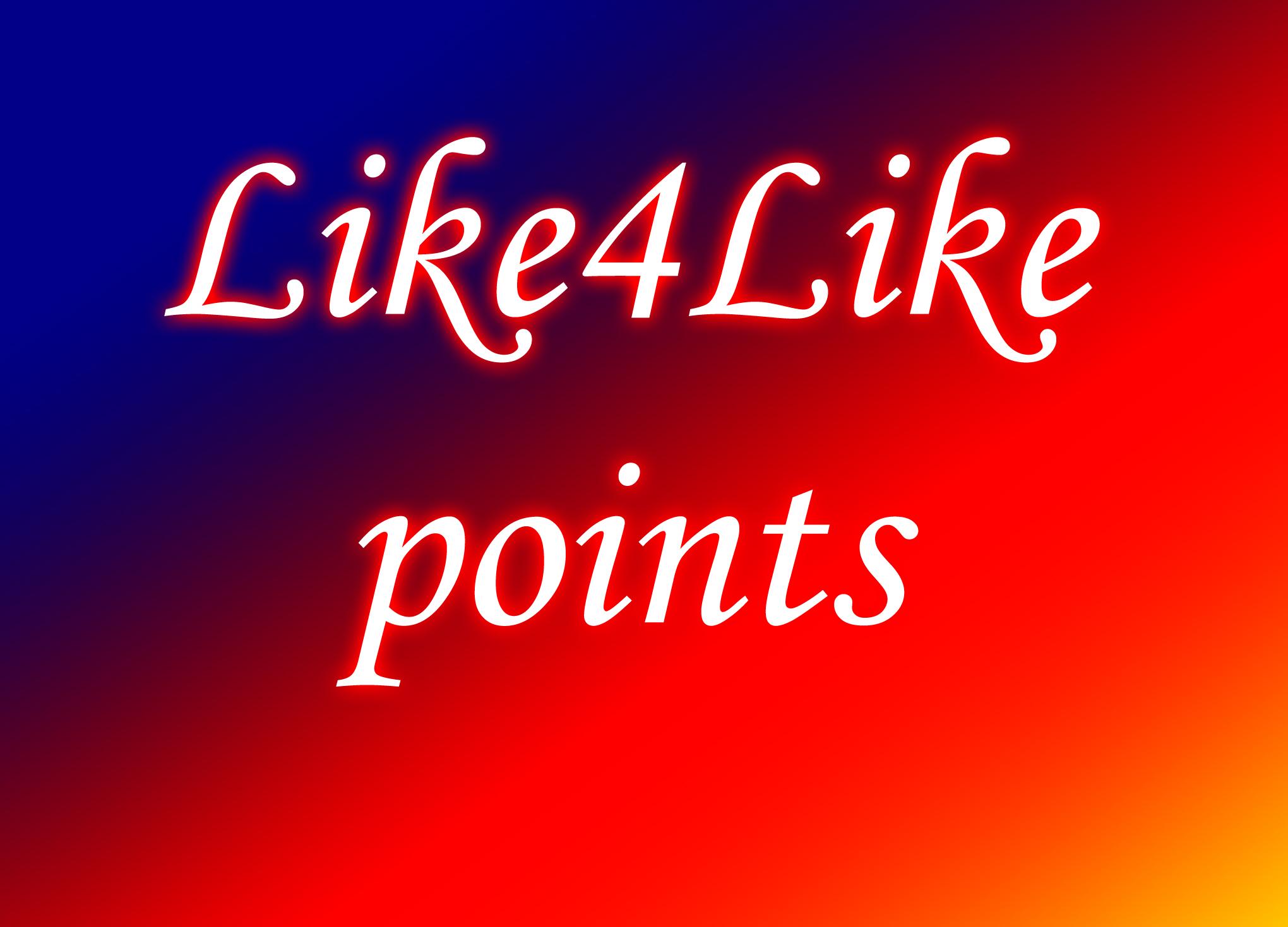 20000 like4like points