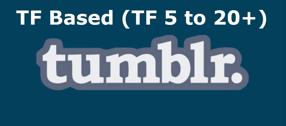 Trust Flow Based Expired Tumblr Blogs - Min. TF 5