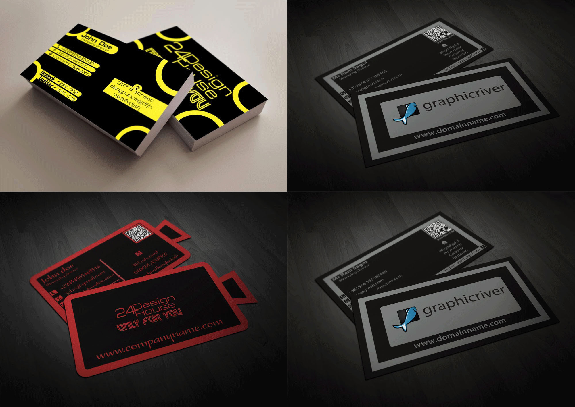 design one or double sided business card