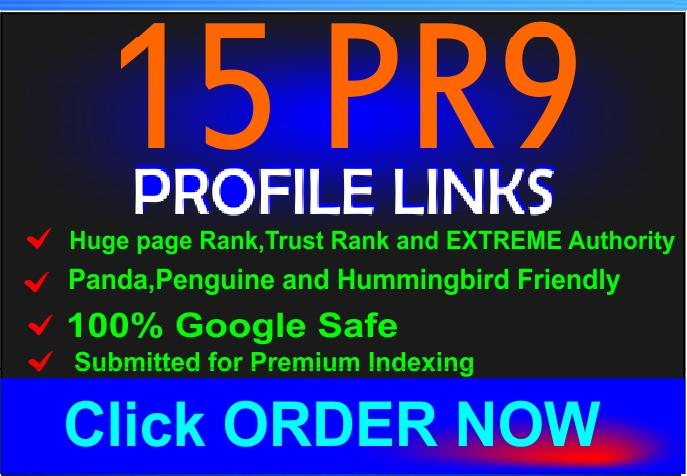 manually Create 30►PR9 and PR10 Backlinks from 30 Unique Domain