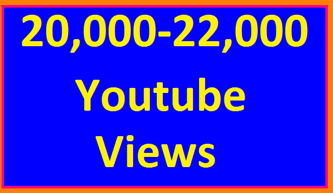 Instant start 20,000/20k to 22,000/22k YouTube Views Non Drop Refill Guaranteed Very Short Time completed