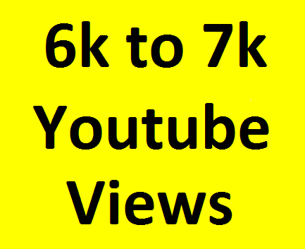 Add 6000/6k to 7000/7k Youtube Vi'ews non drop refill guaranteed very fast completed