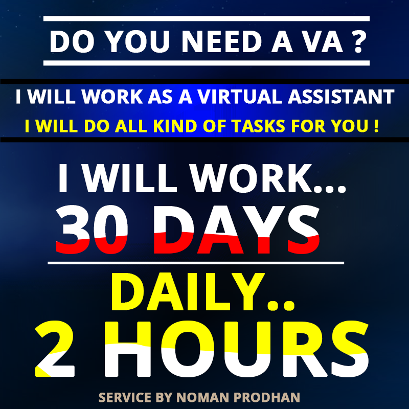 I can work as a VA for one month