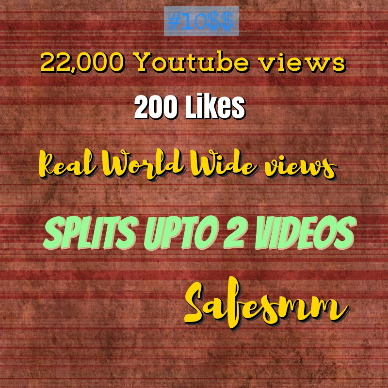 add 22,000 views and 200 likes to your Youtube video