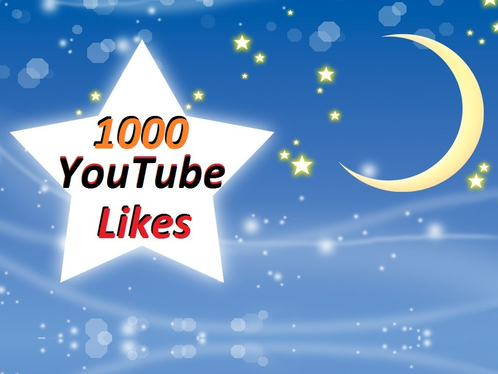 Get 1000 Real YouTube Likes no bot in 24 hours