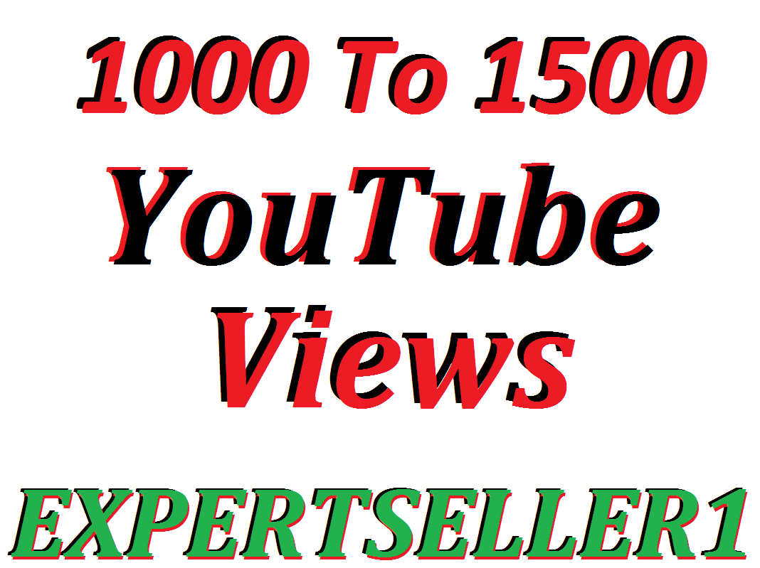 Offer 1000 to 1500 YouTube views or 50 custom comments to make Attractive your Video