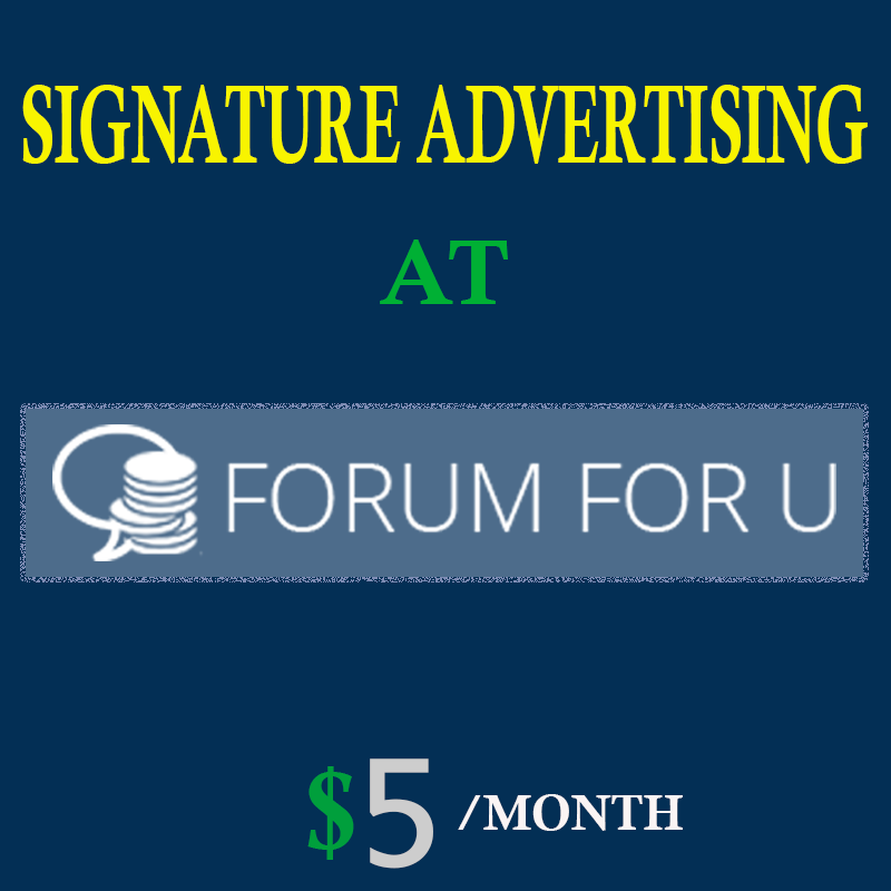 One month signature advertising