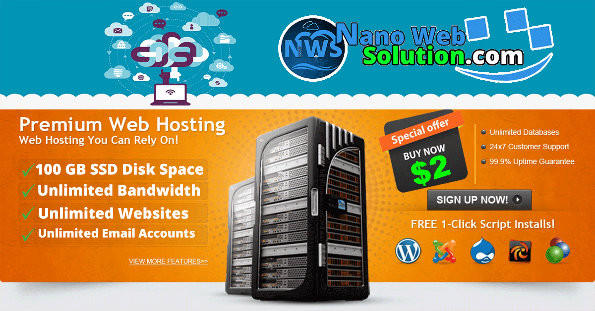 Super Fast Unlimited Cloud Shared Hosting For 1 years