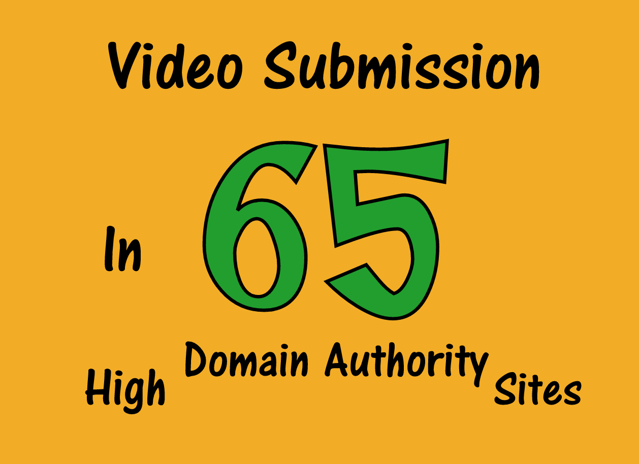 Manually upload or share your videos to top 65 Video submission sites