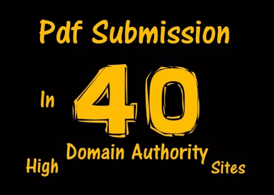 Manually submit your Article or Pdf to Top 40 PDF Submission sites