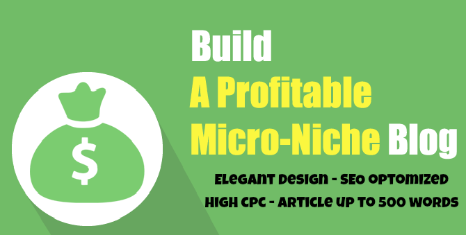 create High CPC micro niche website