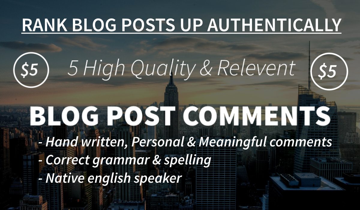 5 Relevent & High Quality Blog Post Comments By Australian Blogger