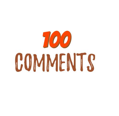 100 Social Media Instant Comments