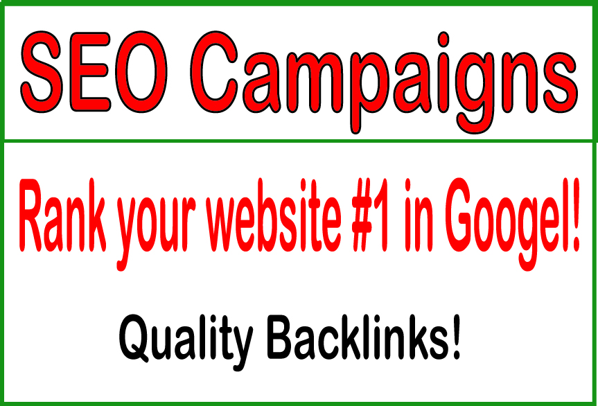 SEO Campaigns-​Rank your website 1 in Googel!