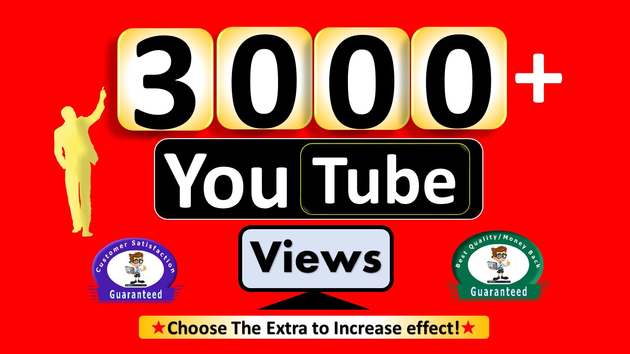 Instant 3000+  Video Views, Real Active non Drop Guaranteed
