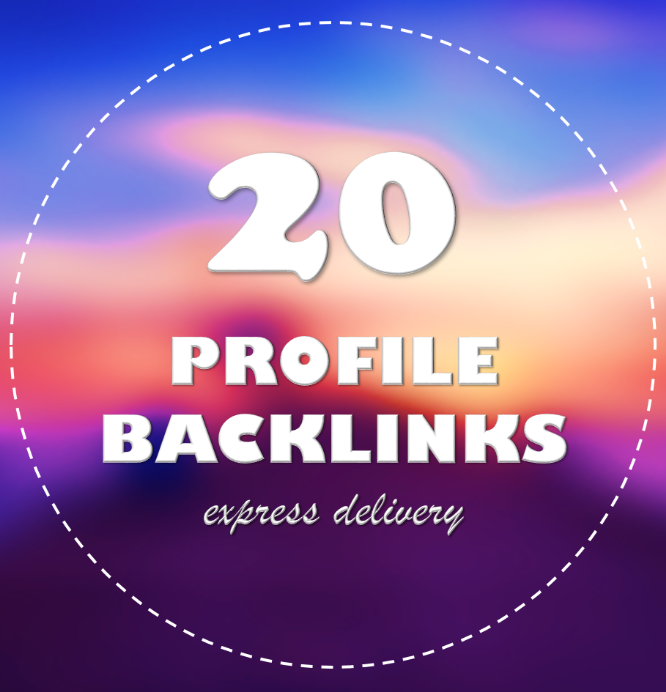 Add 20 Profile Backlinks from High PR9 Backlinks