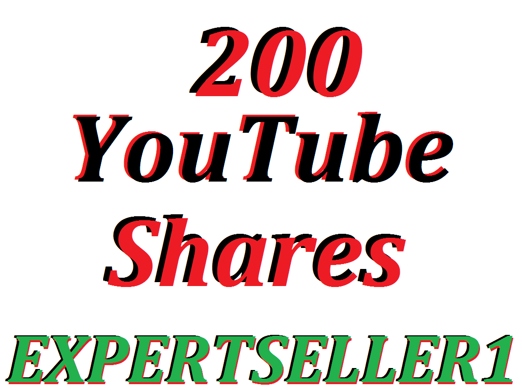 Limited Offer 200 YouTube Video Shares