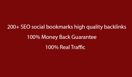 I can provide your site to 150+ SEO social bookmarks high quality backlinks