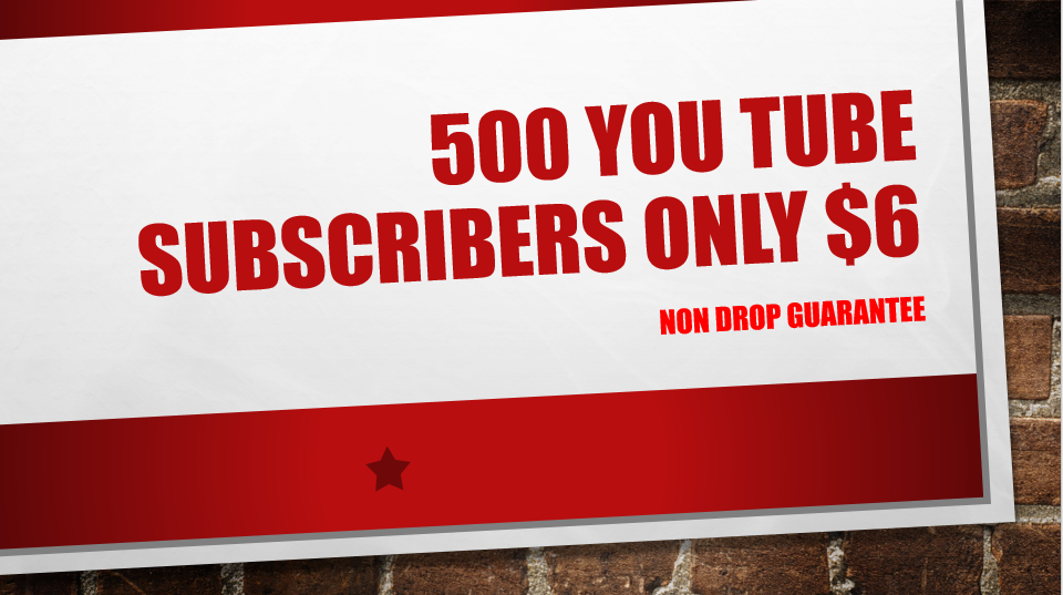 500+ Non Drop Quality  you-tube Subs-cribers