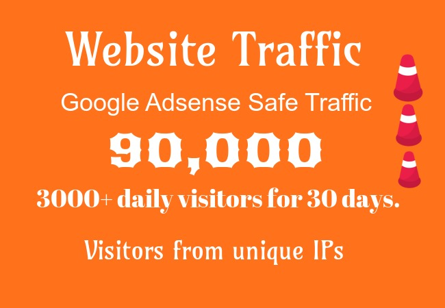 I will provide you 5k traffic daily for 20 day
