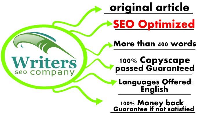 Write 8 original content more than 400words seo optimized for