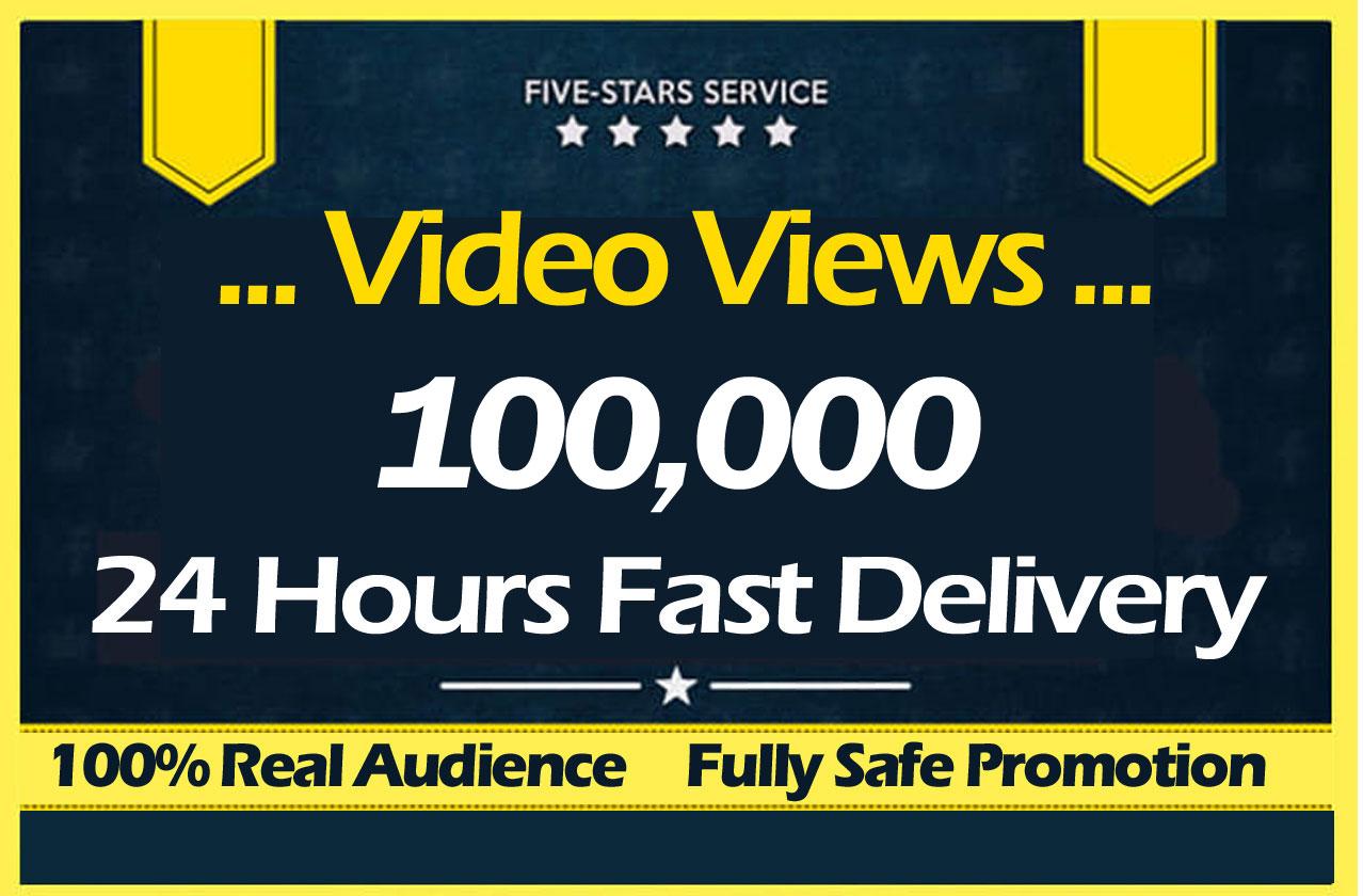 100000 Video views Promotion
