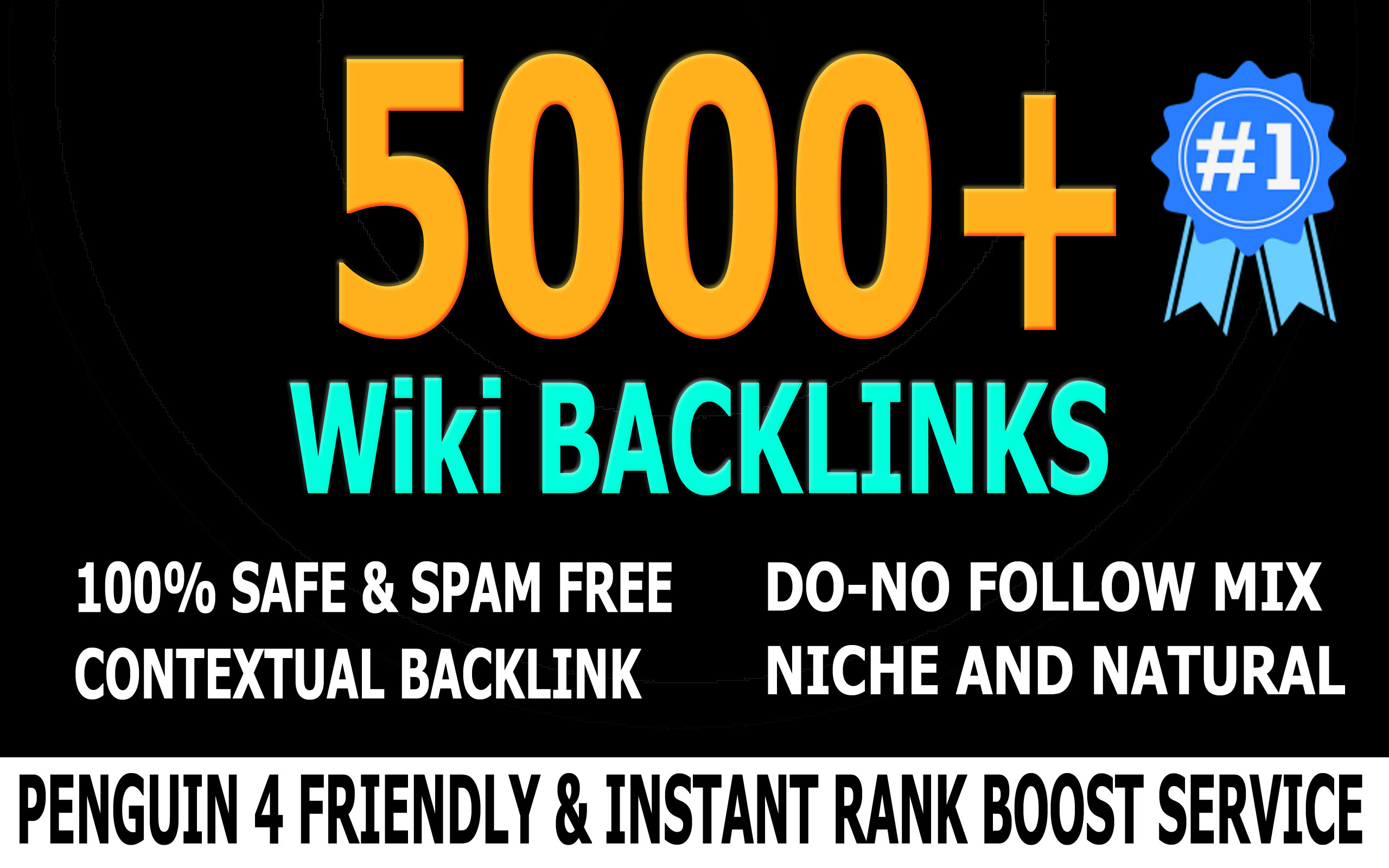 Rank you 1 with 5000 High PR Quality Wiki Backlinks