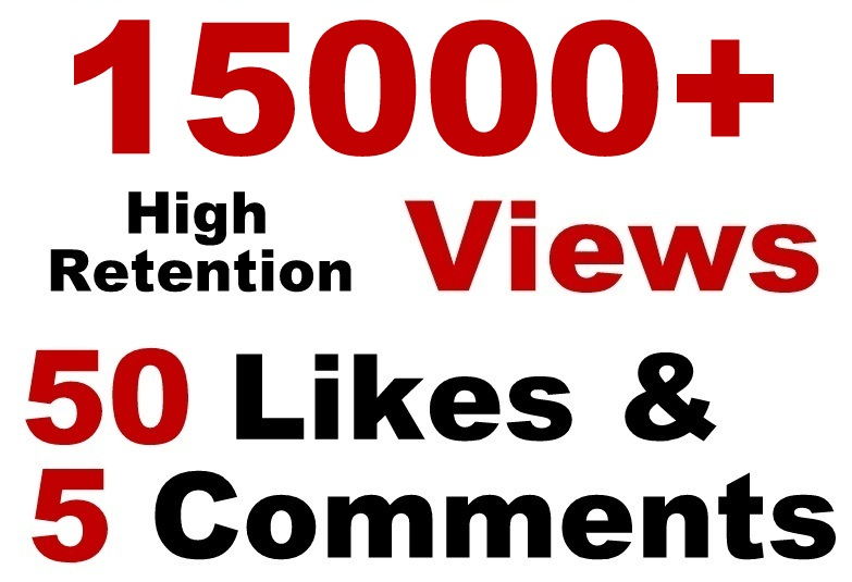 Youtube 15000 Views and 50 Likes with 5 Comments Splitable SeoPromotion