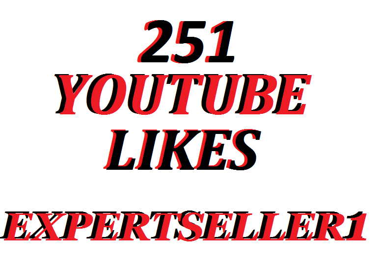 Offer 251 YouTube Likes to make Attractive your Video