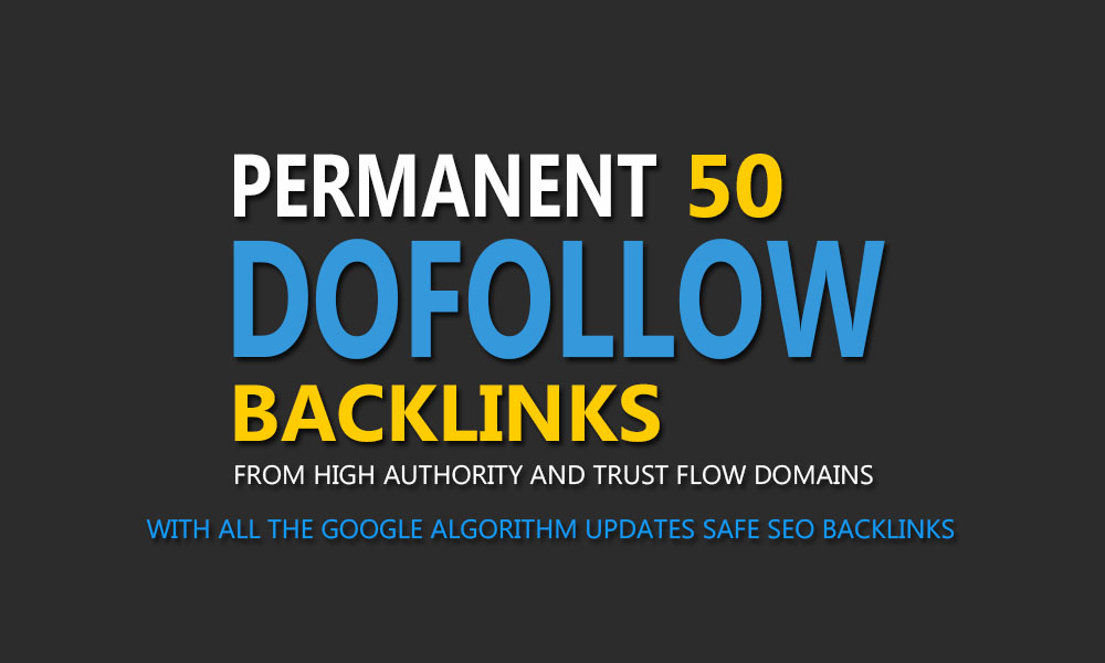 Permanent 50 PR9-5 up Dofollow Authority Backlinks