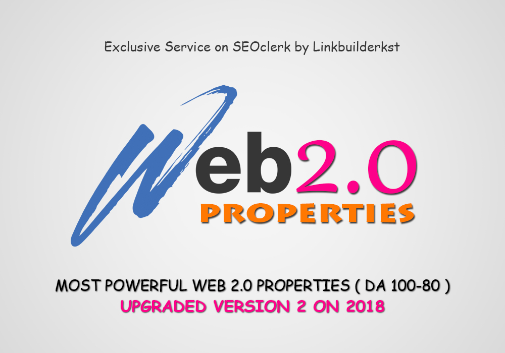 Premium Web 2.0 Properties - All Handwritten Unique Contents To Skyrocket Your Google Ranking