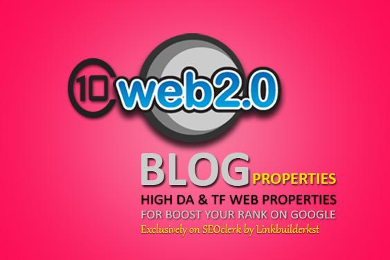 10 Most Powerful Web 2.0 Blog Properties - Handmade Contextual Backlinks