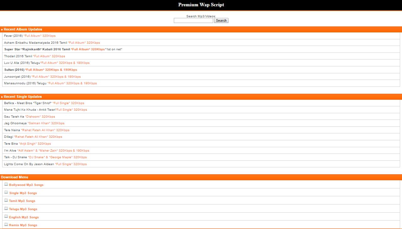 PHP Premium Wap Mobile Site Script