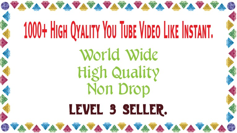 1000 Non Drop You Tube  Video Like Instant