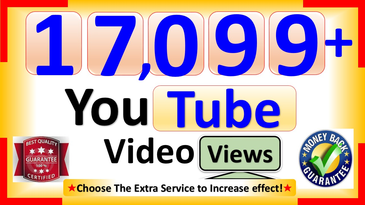 Get You 20,099+ YouTube-Video Views, Real Active, Permanent & Good Retention