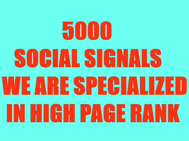 BUILD ORGANIC 5000 SOCIAL SIGNALS WILL BE CREATED FRO...