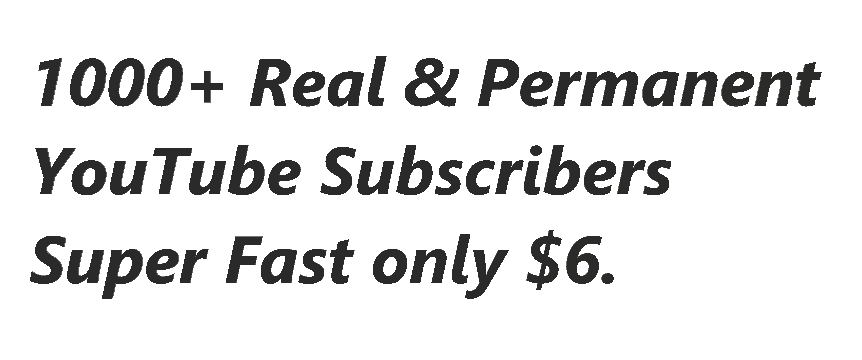 1000+ Real & Guaranteed You,Tube Subs,cribers with 200+ Lik,es Super fast Delivery