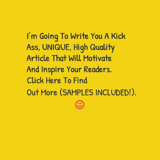 Get a unique, high quality motivational article 500 ...