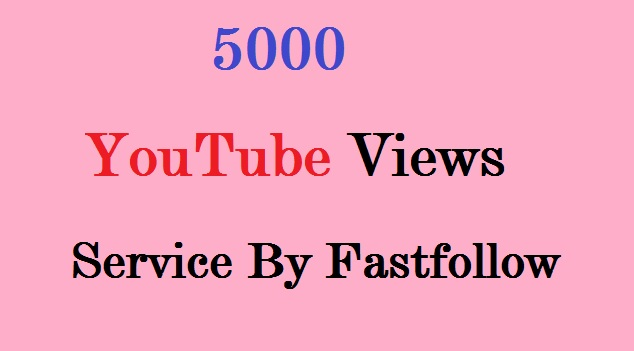 give you 5000+++ real Human youtube video views