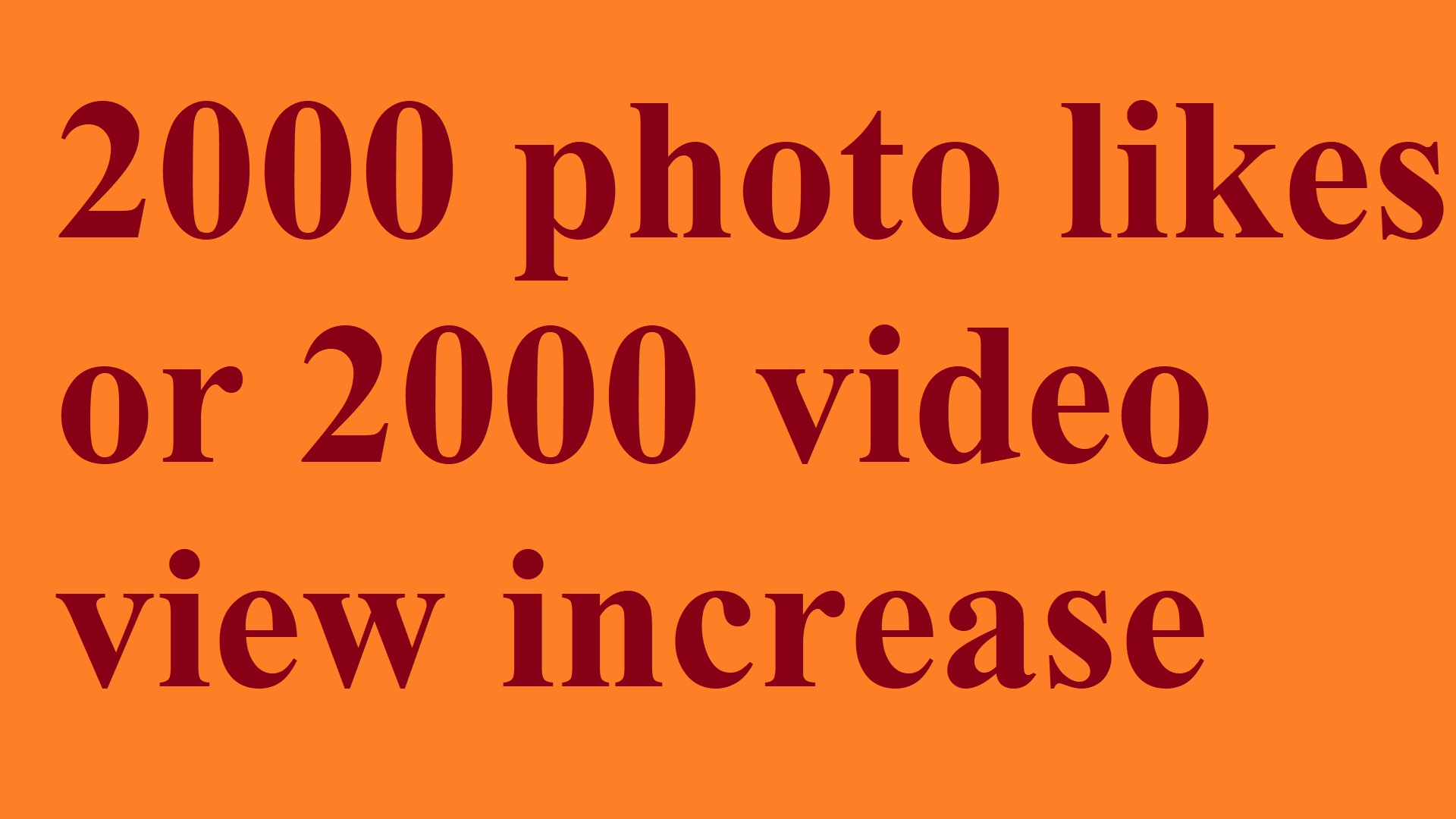 Instant start 4000 photo likes or 4000 video view promotion