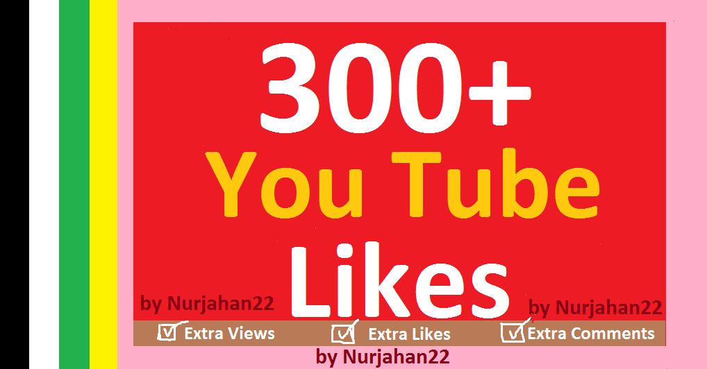 300+ real youtube likes 06-12 hours in complete
