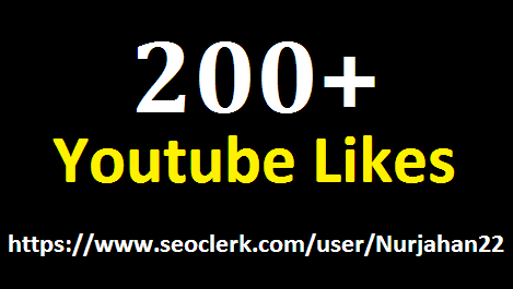 200+ real youtube likes 12- 24 hours in complete
