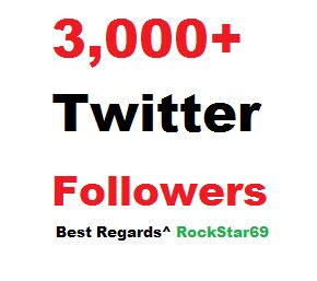 3000+ Twitter Promotion Package within 24 hours